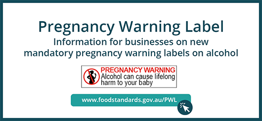Pregnancy warning label web banner